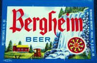 Vintage! Bergheim Beer Label, 1970's