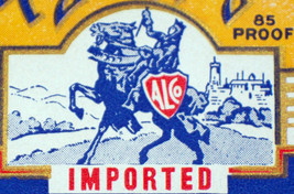 Imported Royal Knight Dry Gin Label, 1930's - $1.19