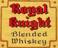 Royal Knight Blended Whiskey Label, Half Pint, 1930's