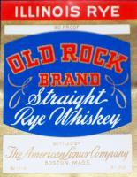 Illinois Rye! Old Rock Whiskey Label, 1930's