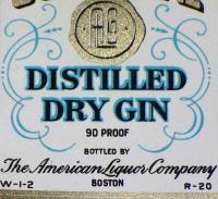 Go For Gold! Gold Seal Dry Gin Label, Pint, 1930's