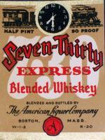 Express Train! Seven-Thirty 1/2 Pt. Label 1930's
