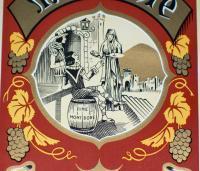 Amazing Litho! Grande Fine Mont Dore Label 1930's