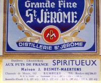 Viking King! Grande Fine St. Jerome ( Wine ) Label 1930