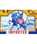 Large Imported Royal Knight Dry Gin Label, 1930's - $1.19