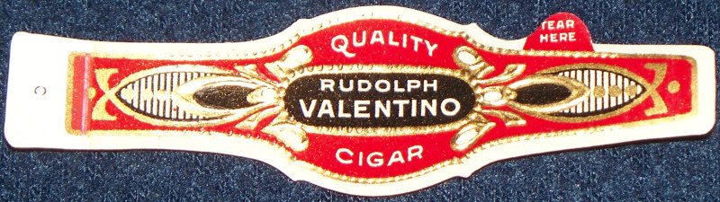 Rudolph velentino cigar label 001