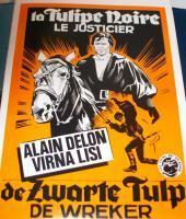 VIGILANTE!! The Black Tulip 1964 European Film Poster
