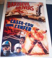 RECKLESS!! Daredevil Drivers 1970 European Film Poster