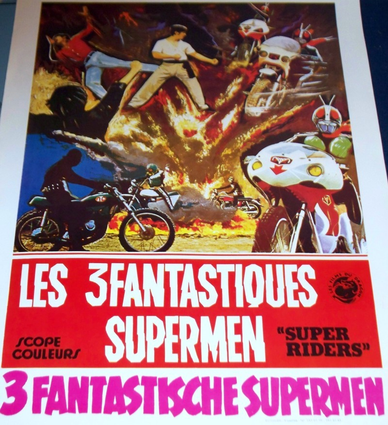 MARTIAL ARTS! 3 Fantastic Supermen European Film Poster