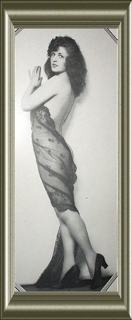 Lovely Semi-Nude Nymph Clad Woman Posing Vintage Print
