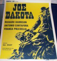 THE GREAT! Joe Dakota 1972 European Film Poster