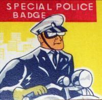 FLORIDA GATORS Gainesville Police Tin Litho Badge,1960s
