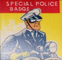 Halifax County Sheriff's Tin Litho Badge, 1960