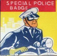 TEXAS Alamo Deputy Sheriff Tin Litho Badge, 1960's