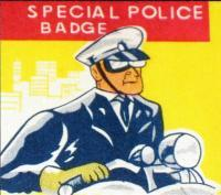 WOODBURY POLICE Tin Litho Badge, 1960s