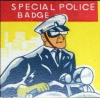 CALIFORNIA San Francisco Police Tin Litho Badge, 1960s