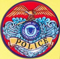 COMMONWEALTH MASSACHUSETTS Police Tin Litho Badge 1960s