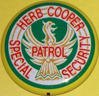 Herb Cooper Special Security! Tin Litho Badge, 1960s