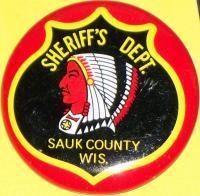 WISCONSIN Sheriff's Dept. Tin Litho Badge, 1960s