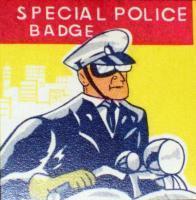 Homeland Security Dept of Defense Tin Litho Badge 1960s