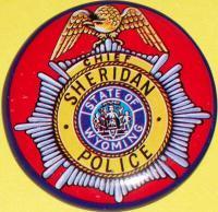 WYOMING Chief Sheridan Police Tin Litho Badge, 1960s