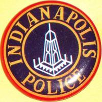 INDIANA Indianapolis Police Tin Litho Badge, 1960s