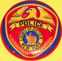 NEW YORK County of Suffolk Police Tin Litho Badge 1960s