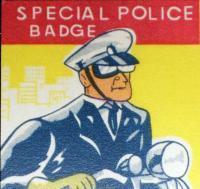 Laurens County Tin Litho Badge 1960