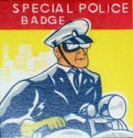 PLORHAM PARK POLICE Tin Litho Badge, 1960s
