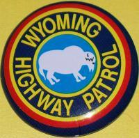 WYOMING Highway Patrol Tin Litho Badge, 1960s