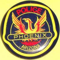 ARIZONA Phoenix Police Tin Litho Badge, 1960s