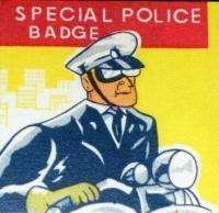San Bruno Police Tin Litho Badge, 1960s