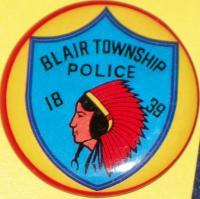 Blair Township Tin Litho Badge, 1960's