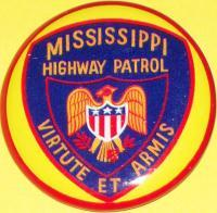 MISSISSIPPI Highway Patrol Tin Litho Badge, 1960s