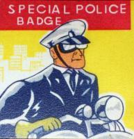 Abilene Police Tin Litho Badge, 1960s