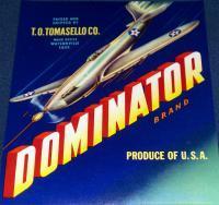 Air Battle! Dominator Crate Label, 1940s