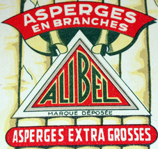 Alibel Asparagus French Crate Label, 1940's - $2.99