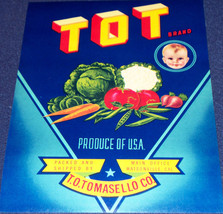 TOT Brand Crate Label, 1930's, Made in USA - $2.99