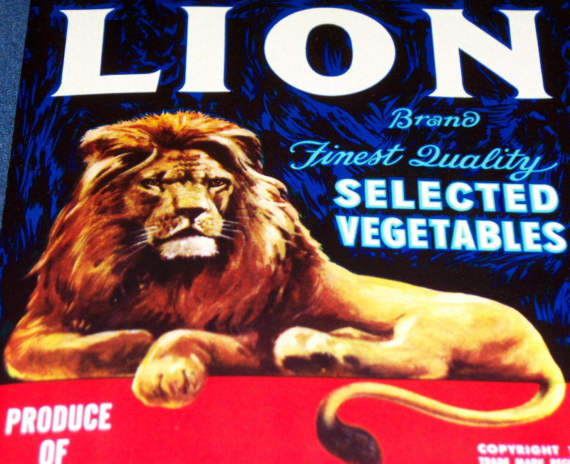Lion brand crate label 003