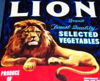Needs a Home! Lion Brand Crate Label, 1925
