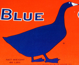 Feeling Blue? Blue Goose Crate Label, 1930s - $2.99
