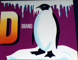 Proud Penguin! Polar Bird Crate Label, 1930s - $2.59