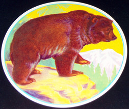 CAL Bear! Silver Tip Crate Label, 1930s - $2.59