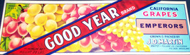 Yumm! Good Year Grapes Crate Label, 1920s - $2.89