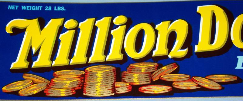 Milion dollar crate label 002