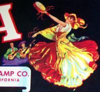 Exotic! Florita Grapes Crate Label, 1930s