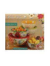 The Pioneer Woman Ceramic Bowl Set 5 Pieces Vintage Collection Flea Mark... - £36.99 GBP