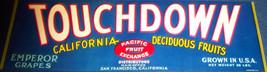 Original! Touchdown Crate Label, 1930s - $5.49