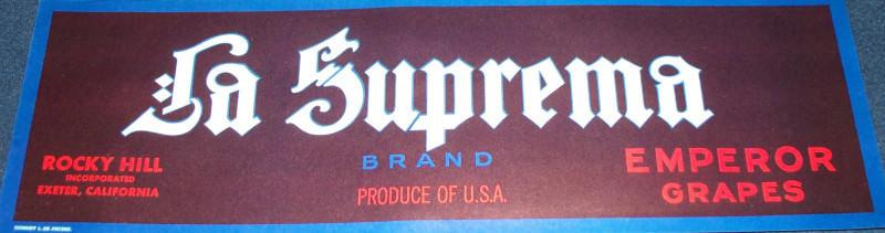 La suprema crate label 001
