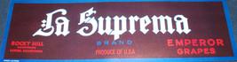 Supreme! La Suprema Crate Label, 1930s - $5.89